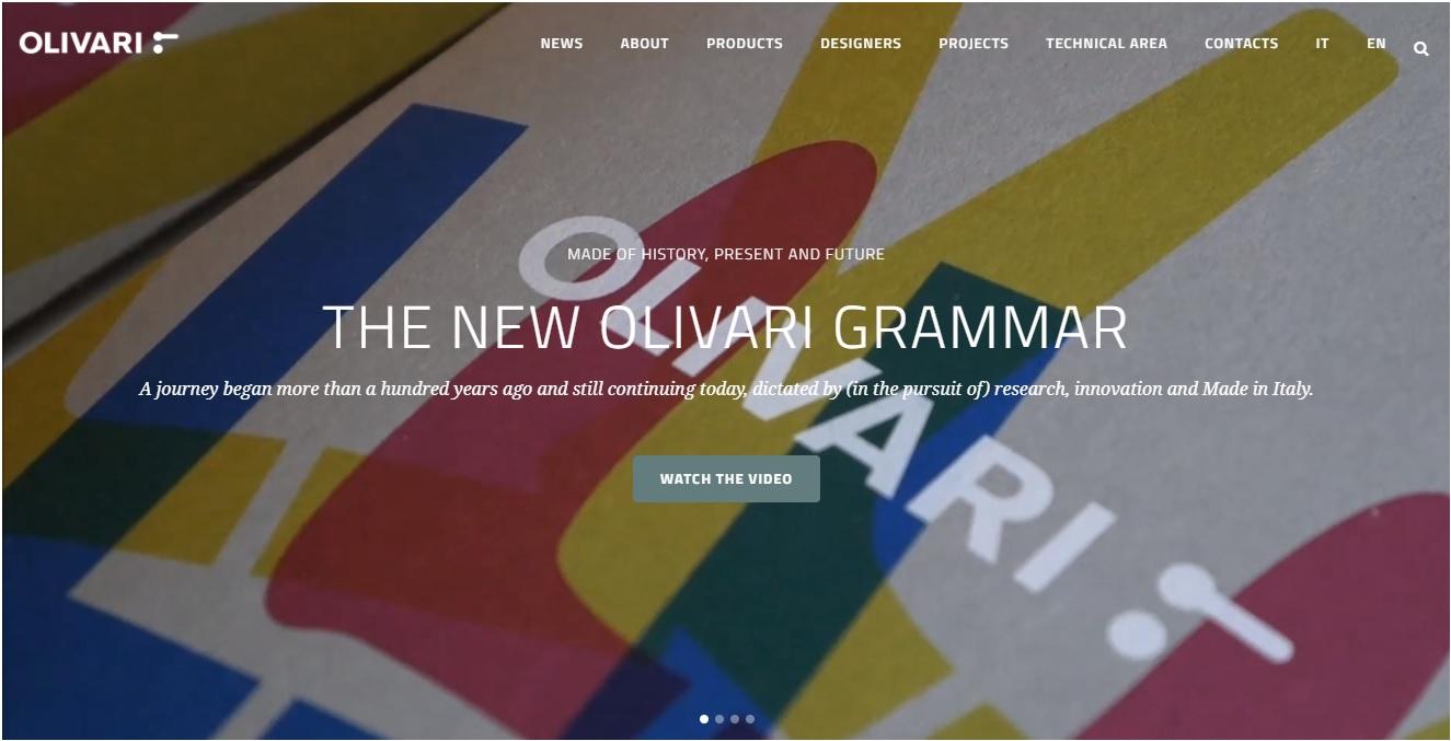Olivari - 100 anos de puxadores é mote para novo site