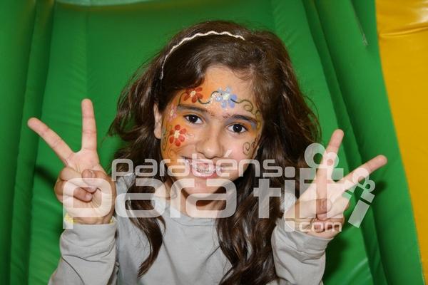 Animações infantis com pinturas faciais