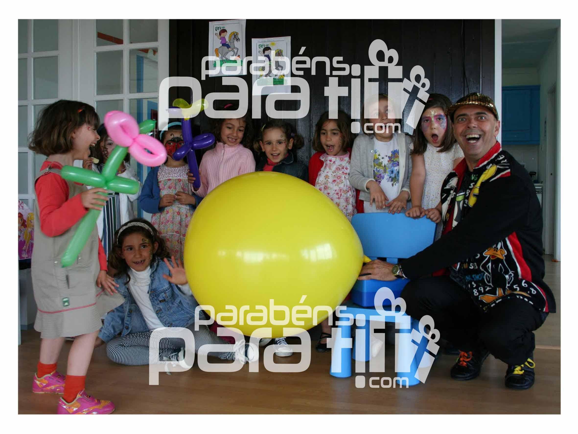 Animações infantis em festas de aniversário